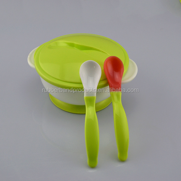 Wholesale High Quality Baby Silicone Feeding Suction Bowl Set with Spoon for Kids