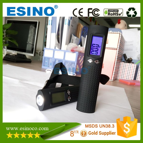 2016 newest shenzhen manufacture 50kg electronic multi-function digital luggage scale with power bank and flashlight function