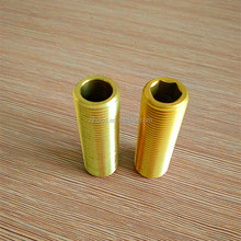 all thread brass pipe fitting with hex ,npt thread all thread fitting