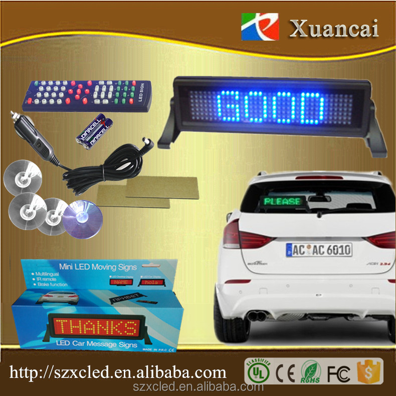 Car LED display board,LED board mini ,Cheap price LED moving sign(Direct Manufacturer)