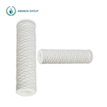 Water Treatment Spun Removal Rust Polypropylene String Wound Filter Cartridge