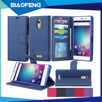 Custom blu wallet mobile phone case with business card holder flip cover leather money clip wallet for vivo 5r