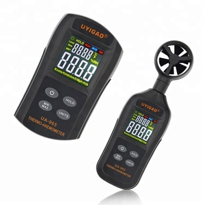 Handheld Digital Wind Speed Thermometer Anemometer Air Velocity Flow Meter with colorful LCD