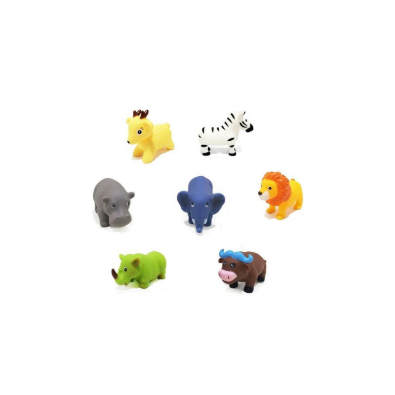 7 pcs custom making plastic mini animal toys for babies