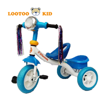 alibaba trade assurance on sale metal frame children tricycle with LED lights