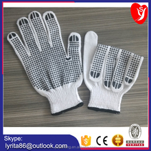 cotton knitted hand gloves with pvc dots