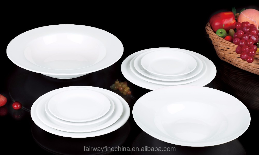 2016 Five Star Hotel Cheap Bulk Hotel Used Ceramic Dinner Plates