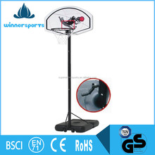 Protable Adjustable Iron Mini Glass Basketball Equipment Hoop Set Backboard