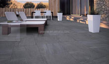600x600mm low water absorption dark grey thick porcelain 20mm outdoor floor tile R11 level non-slip marble porcelain tile