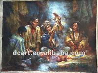 Top Quality Artist Handmade Indians Fine Art Oil Painting