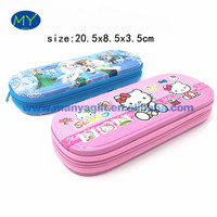 Custom printed colorful tin stationery bag pencil casa set with double layer and zipper with factory wholesale price