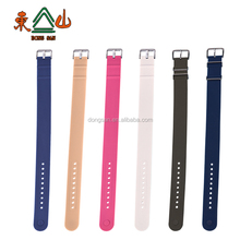 18mm Colorful waterproof soft silicone watch strap rubber wrist nato watch band