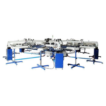 Touch screen automatic roll to roll non woven fabric screen printing machine