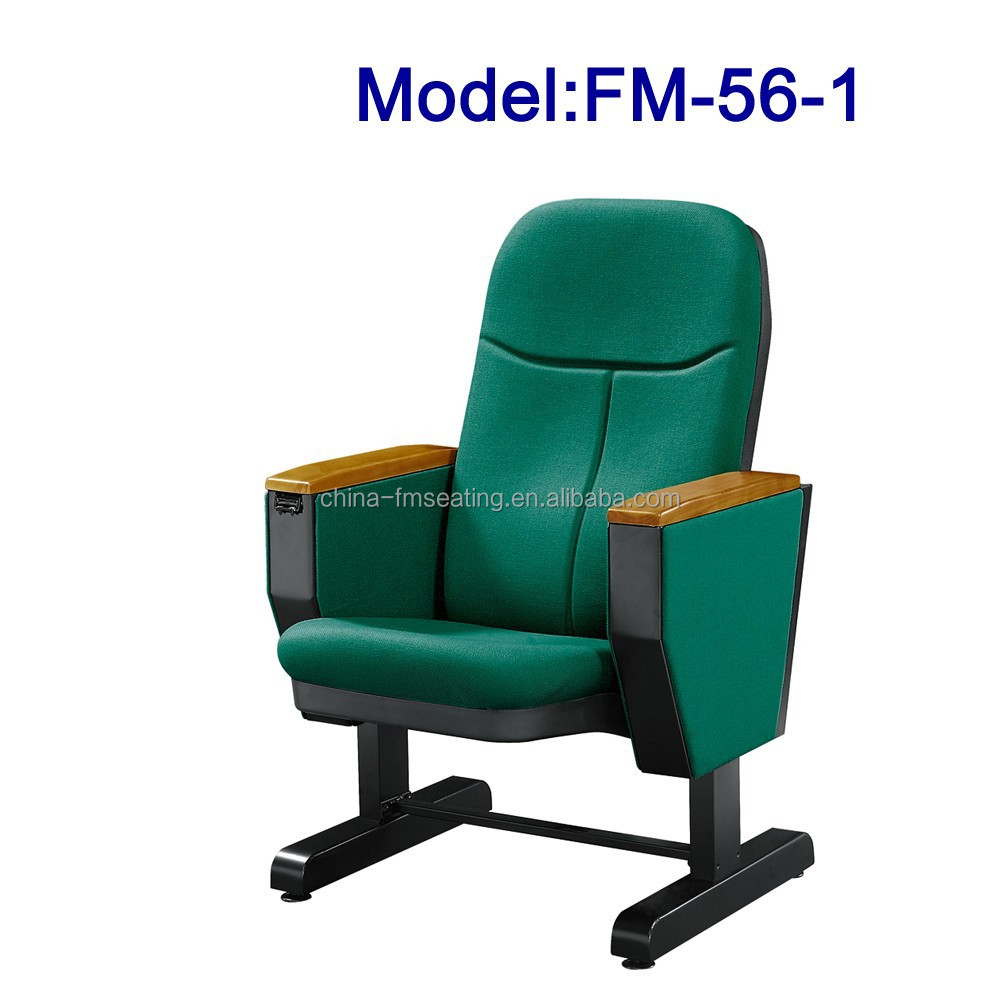 No.FM-56-1 Free standing auditorium chair fabric cover