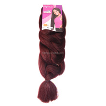 2016 Best price two tone braiding hair, ombre color jumbo braiding hair, jumbo braid 165g synthetic braiding hair