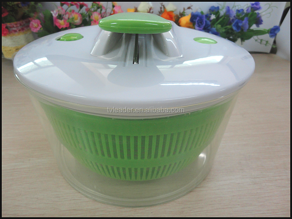 Multi-Functional Salad Spinner and Serving Bowl with 4 In 1 Kitchen Mandoline Slicer/Grater and Safety Food Holder