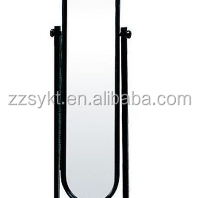 Floor free standing cheval dressing vanity mirror with wheels wholesale