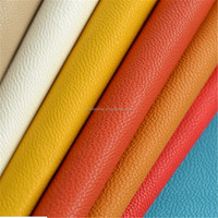 colorful deep grain lichee pu leather for sofa and furniture DH106