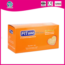 wholesale fitone sex female big dotted condom use sex