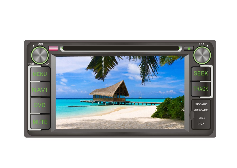 6.2 inch universal car multimedia dvd player for Toyota series before 2006