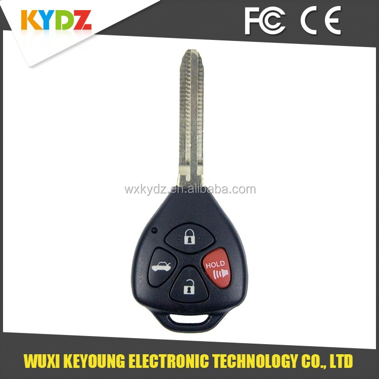 China supplier yaris remote key 2008-2010 GQ4-29T for Toyota