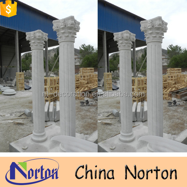 Greek design indoor decorative limestone column NTMF-C314A