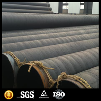 3PE SSAW Spiral steel pipe epoxy coal tar pitch/anticorrosion spiral round welded carbon steel pipe