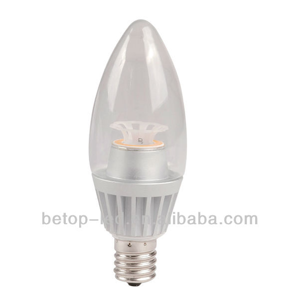 Dimmable 5W COB led Candel lighting E17, 4000K CRI80 360deg.,45W replacment