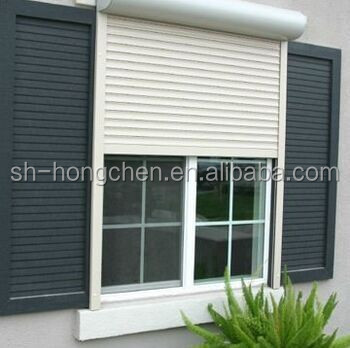 Elegant & hot selling UPVC/PVC Window with shutters