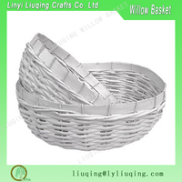 White empty gift basket wicker fruit basket small wicker storage basket