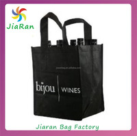 Factory wholesales eco-friendly non woven 6 bottle wine tote bag