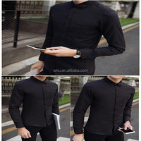 new style China Fashion T-Shirt Long Sleeves Collar Button Up Shirts For Men