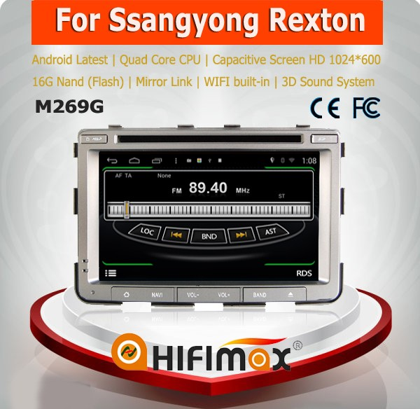 Hifiamx car dvd gps for ssangyong rexton car audio video entertainment navigation system