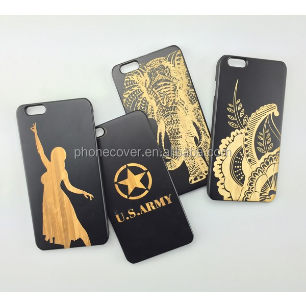 Top quality cell phone cover custom bamboo knight wooden case
