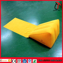 High quality indoor&outdoor Flocking pvc customized brand backrest inflatable wedge pillow