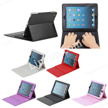 Bluetooth keyboard leather case for iPad 4 with silicone keyboard