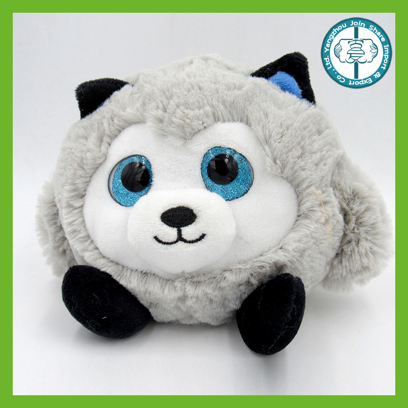 Best made kawaii chenap furry round custom animal plushie toys for kids