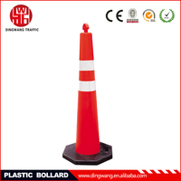 Removable Red Base Warning Plastic Bollard