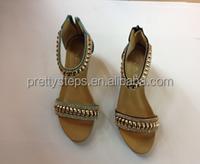 2015 bulk wholesale latest women flat sandals shoes China