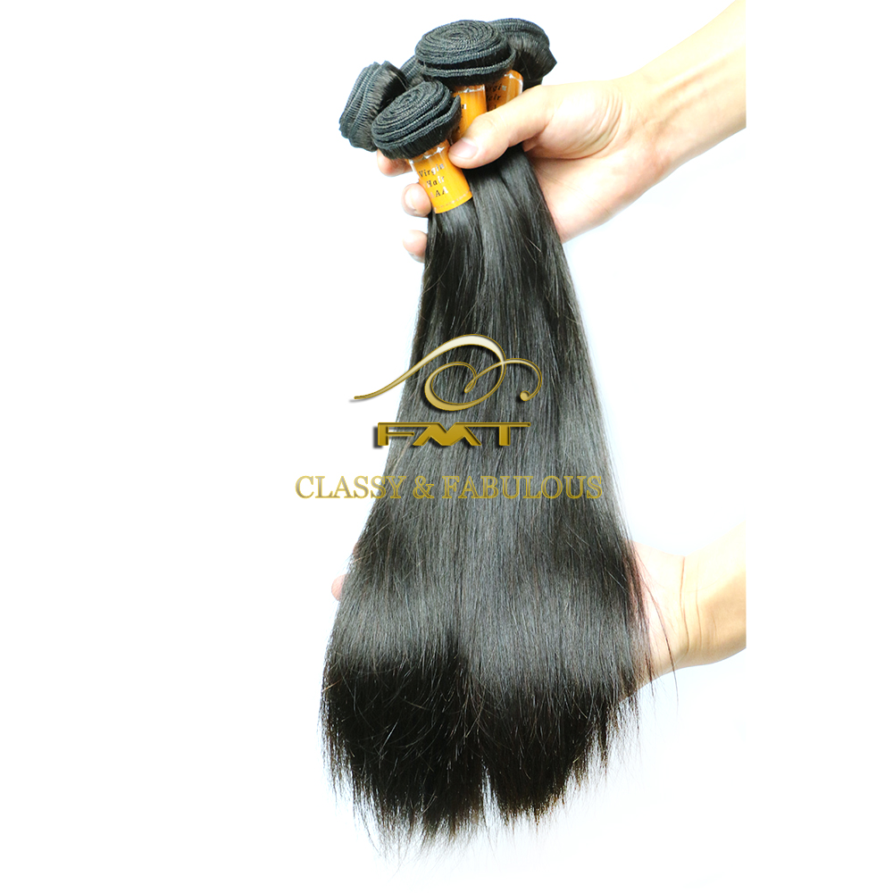 Brazilian Human Straight Hair Extension Three Head Weft Machine No Glue No Thread No Clip Braid In Virgin Hair