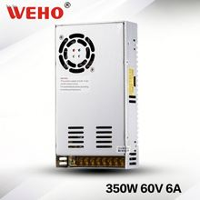 CE ROHS 350W 60v 6A power supply for LED, street light & automatical machine
