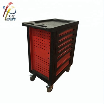 New Style Red Color 7 Drawers Garage Metal Tool Cabinet