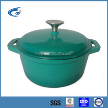 Cast iron enamel cookware/casserole pot with stainless steel lid