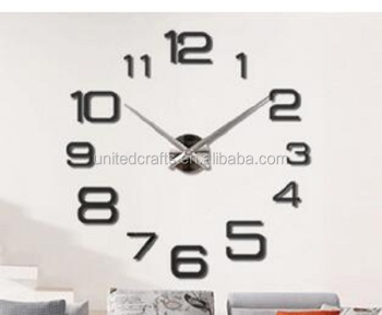 EVA 3D DIY wall clock modern design Big Size Home Decor Wall Watch