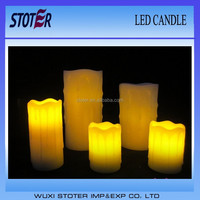 flicker ivory dripping led candles/pillar led candle
