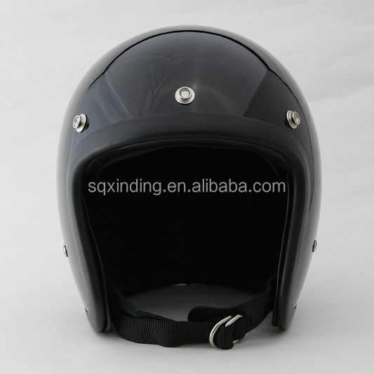 New Custom Open Face Scooter Chopper Vespa Motorcycle Helmet Black Color