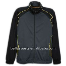 2012 Men's winter jacket windbreaker outwear with contrast piping elastic cuff and bottom easy to wear