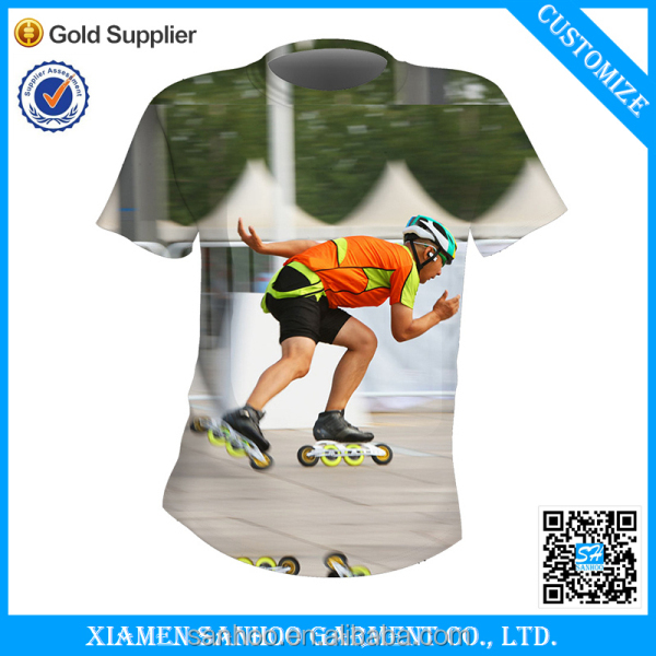 100% Poyester sublimation t-shirt wholesale 3D Printing Mesh Fabric