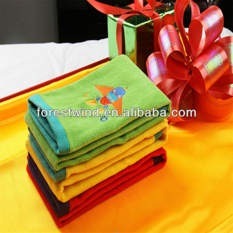 100% Cotton Velour Embroidery Super Cheap Face Towel