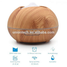 Mist Aromatherapy Diffuser & Humidifier for Essential Oils & Aroma Ultrasonic Technology & Modern, Wood Finish